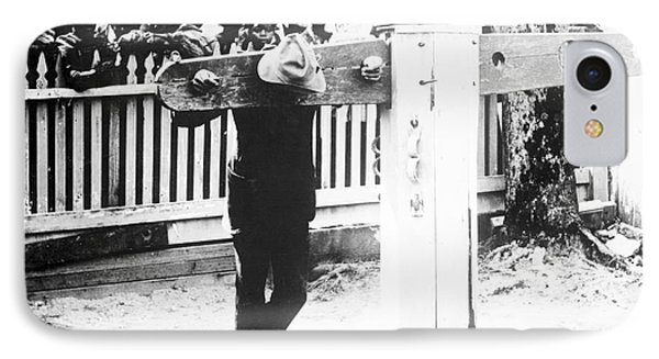 Punishment By Pillory, Historical Image IPhone Case by Library Of Congress