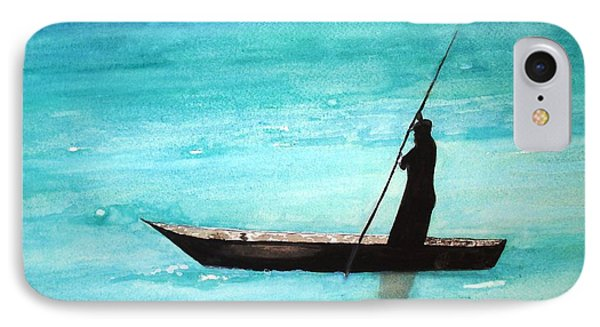 IPhone Case featuring the painting Punt Zanzibar Boat by June Holwell