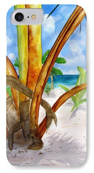 Punta Cana Beach Palm IPhone Case by Carlin Blahnik