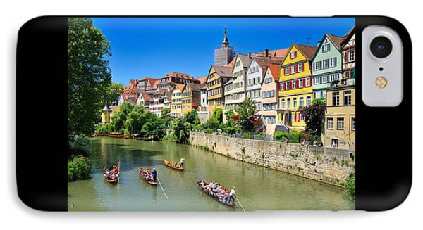 Punts On River Neckar In Lovely Old Tuebingen Germany IPhone Case by Matthias Hauser