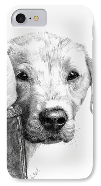 Puppies And Wellies Phone Case by Sheona Hamilton-Grant