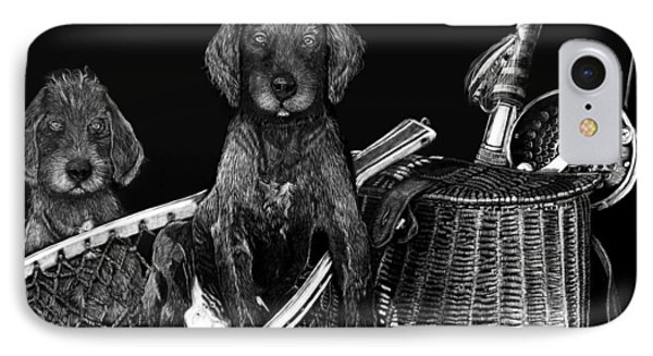 Puppies Are Ready To Go Fish Phone Case by Anderson R Moore