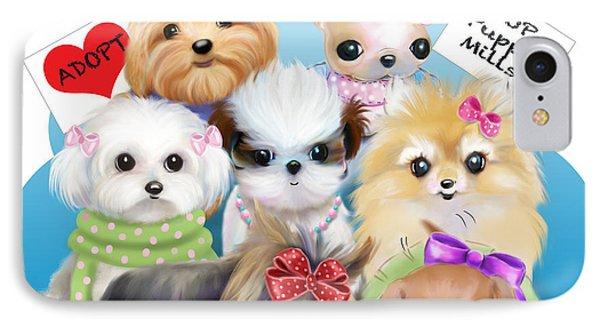 Puppies Manifesto Phone Case by Catia Cho