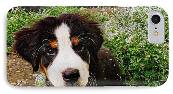 Puppy Art - Little Lily IPhone Case by Jordan Blackstone