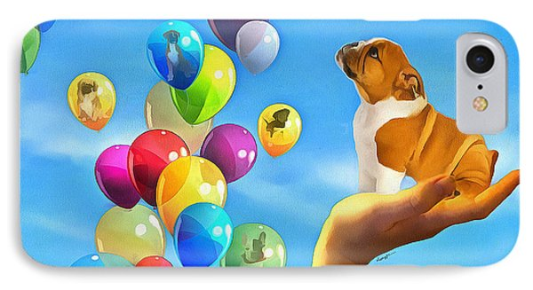 Puppy Balloon-a-gram IPhone Case by Anthony Caruso