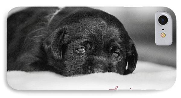 Puppy Black Lab  Phone Case by Toni Thomas