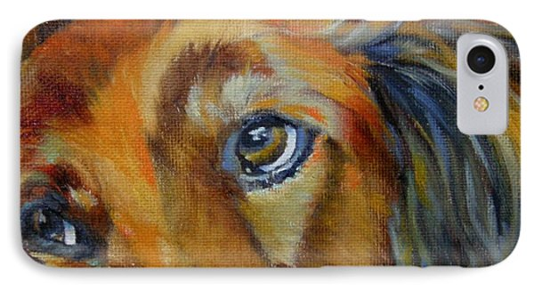 IPhone Case featuring the painting Puppy Dog Eyes by Chris Brandley