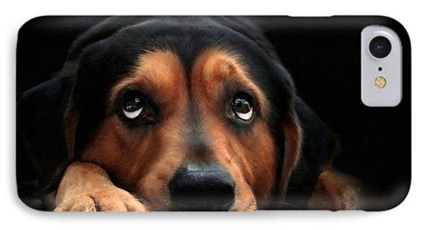 Puppy Dog Eyes Phone Case by Christina Rollo