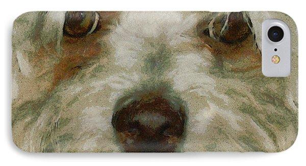 Puppy Eyes IPhone Case by Ernie Echols
