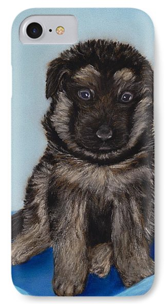 Puppy - German Shepherd IPhone Case by Anastasiya Malakhova