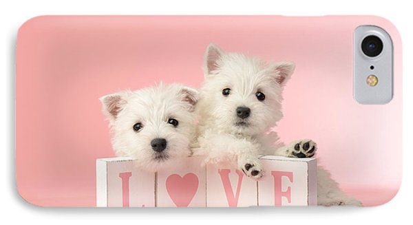 Puppy Love IPhone Case by Greg Cuddiford