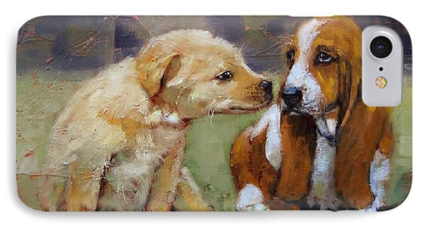 Puppy Love Phone Case by Laura Lee Zanghetti