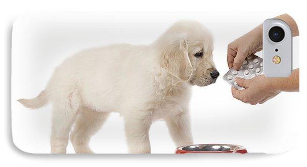 Puppy Receiving Medicine Phone Case by Jean-Michel Labat