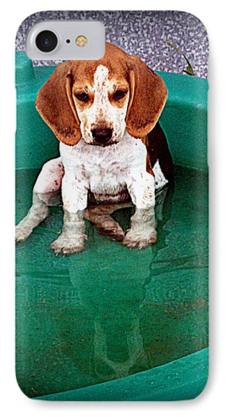 Puppy Refection  Phone Case by Lynn Griffin