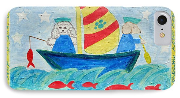 Puppy Sailors Phone Case by Diane Pape