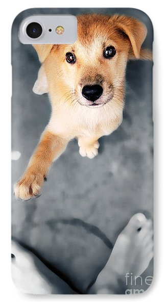 Puppy Saluting Phone Case by William Voon