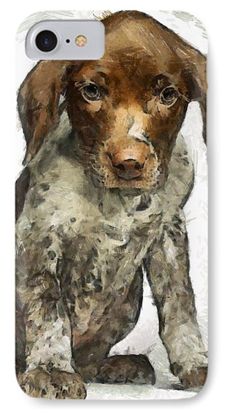 IPhone Case featuring the painting Pupy by Georgi Dimitrov