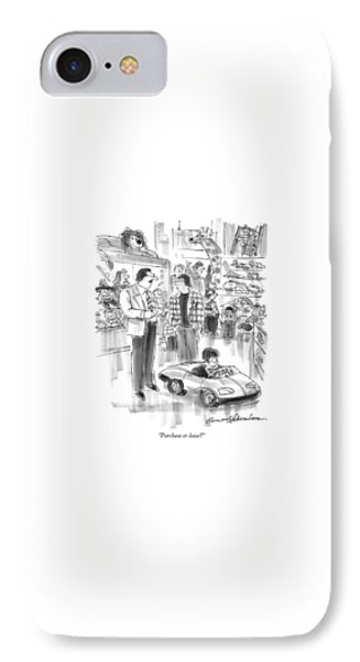 Purchase Or Lease? IPhone Case by Bernard Schoenbaum