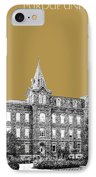 Purdue University - University Hall - Brass IPhone Case by DB Artist