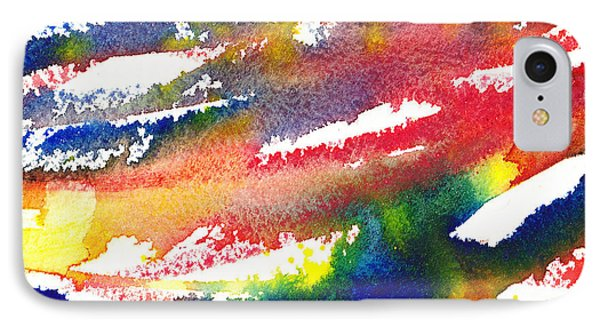 Pure Color Inspiration Abstract Painting Blizzard Born IPhone Case