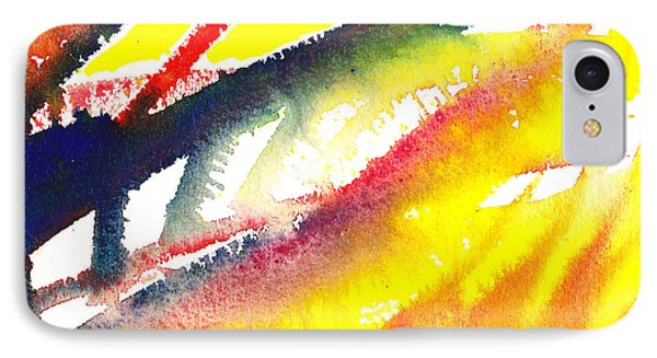 Pure Color Inspiration Abstract Painting Conquering Flames IPhone Case