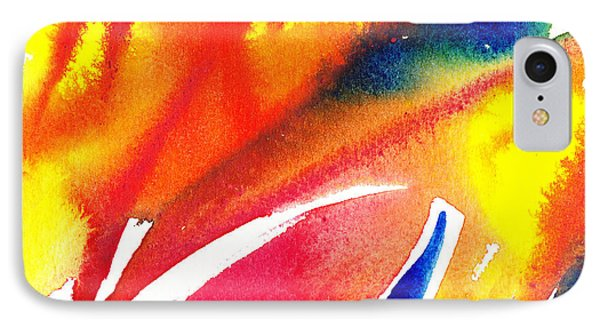 Pure Color Inspiration Abstract Painting Enchanted Crossing IPhone Case by Irina Sztukowski