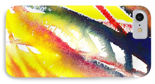 Pure Color Inspiration Abstract Painting Escaping Blaze IPhone Case by Irina Sztukowski