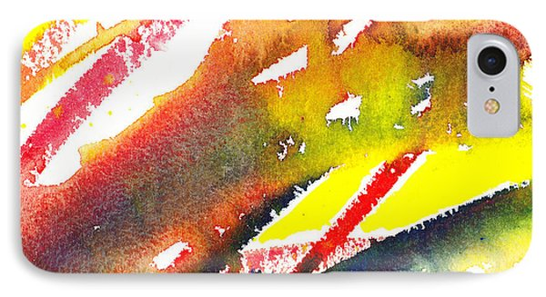 Pure Color Inspiration Abstract Painting Linea Forces IPhone Case