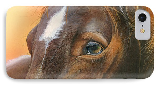 IPhone Case featuring the painting Pure Grace by Mike Brown
