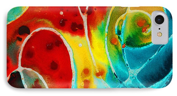 Pure Joy 1 - Abstract Art By Sharon Cummings Phone Case by Sharon Cummings