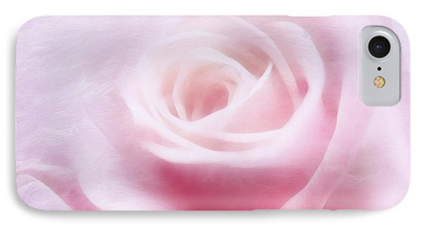 Purity And The Pink Rose IPhone Case