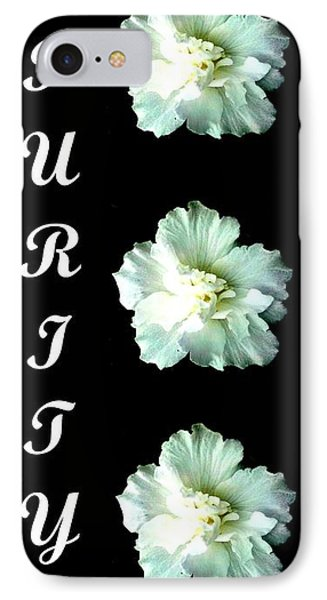 Purity Inspirational Art Collection By Saribelle Rodriguez IPhone Case by Saribelle Rodriguez