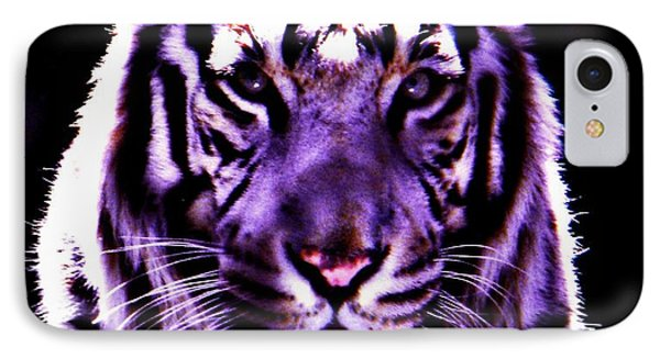 IPhone Case featuring the photograph Purle Tiger by Amanda Eberly-Kudamik