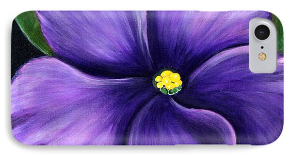 IPhone Case featuring the painting Purple African Violet by Barbara Griffin