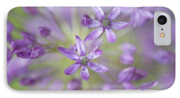 Purple Allium Flower Phone Case by Juli Scalzi