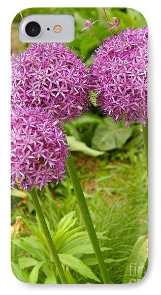 Purple Allium In Manhattan Phone Case by Anna Lisa Yoder