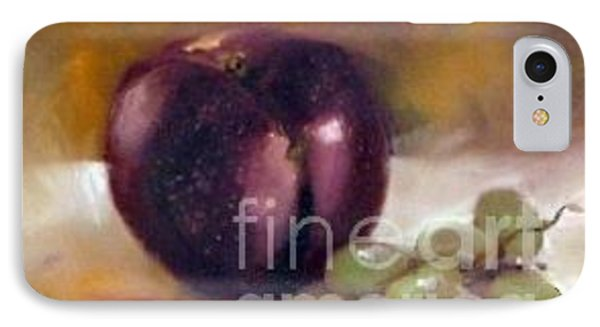 Purple And Grapes IPhone Case by Sally Simon