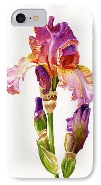 Purple And Orange Iris Phone Case by Sharon Freeman