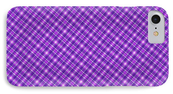 Purple And Pink Diagonal Plaid Pattern Cloth Background IPhone Case