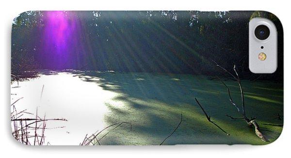 Purple Angel Of Lagoon Phone Case by Phoenix The Moody Artist