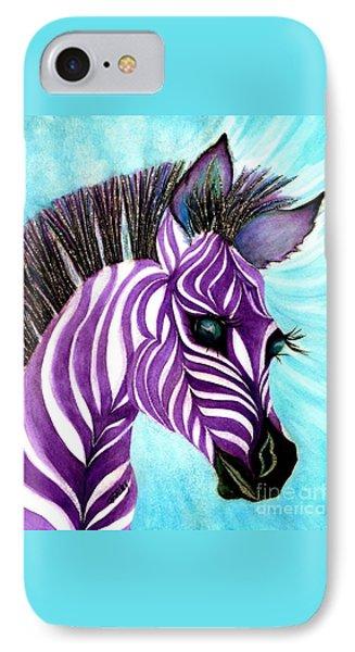 Purple Baby Zebra IPhone Case