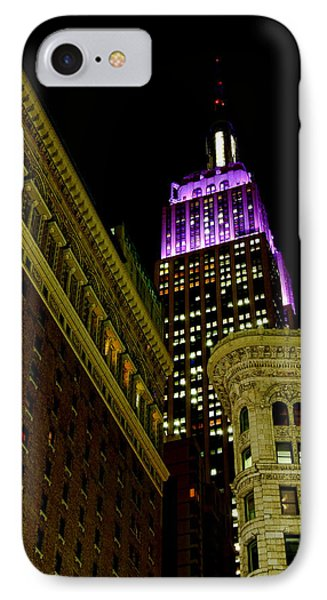 IPhone Case featuring the photograph Purple Beacon by Michael Dorn
