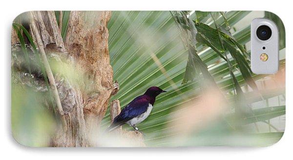 Purple Birs In Trees IPhone Case