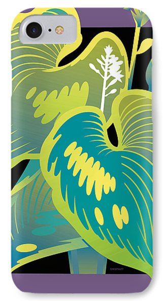Purple-black Hosta IPhone Case