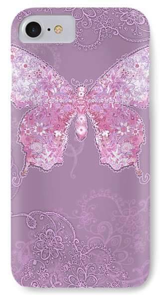 Purple Butterfly Floral Phone Case by Alixandra Mullins