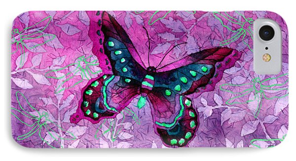Purple Butterfly IPhone Case by Hailey E Herrera