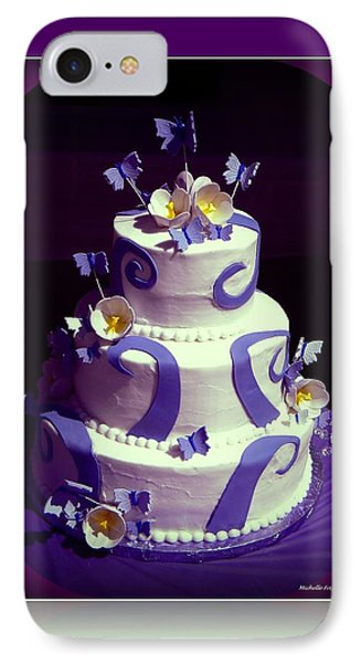 Purple Butterfly Wedding Cake Phone Case by Michelle Frizzell-Thompson