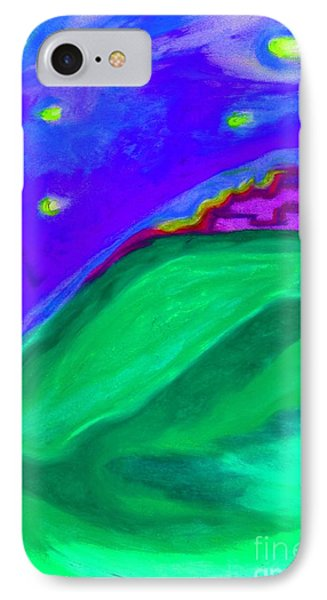 IPhone Case featuring the painting Purple Castle By Jrr by First Star Art