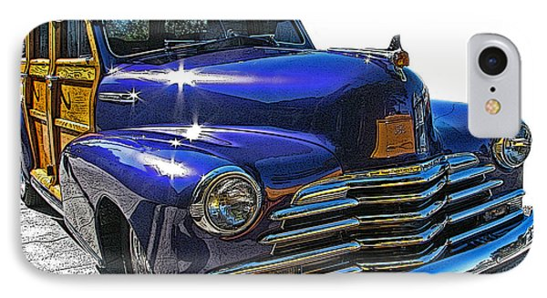 IPhone Case featuring the photograph Purple Chevrolet Woody by Samuel Sheats