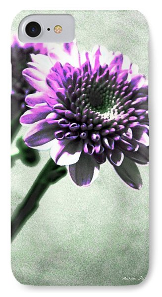 Purple Chrysanthemum Phone Case by Michelle Frizzell-Thompson